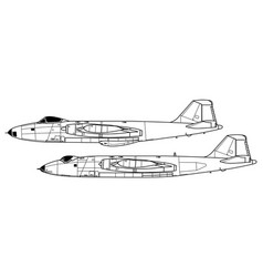 English electric canberra vector