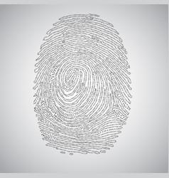 Fingerprint made by binary code vector