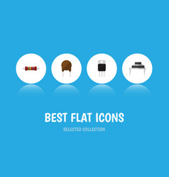flat icon device set of destination triode vector image