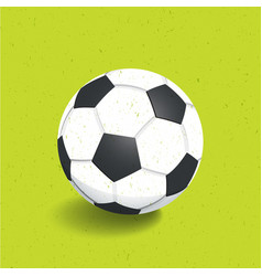 football soccer ball icon vector image