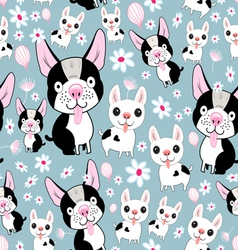 Funny dog pattern vector