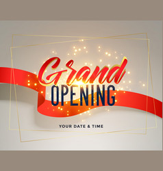 grand opening celebration flyer greeting vector image