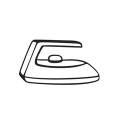 hand drawn icon of iron vector image