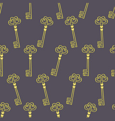 hand drawn old key seamless pattern-01 vector image