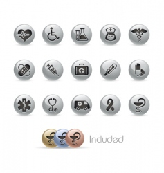 Health care icons vector