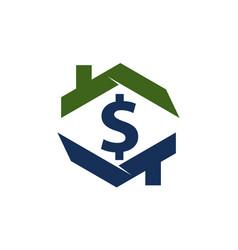 Home cash logo design template vector