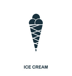 ice cream icon mobile apps printing and more vector image