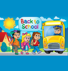 image with school bus topic 5 vector image