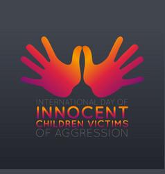 international day innocent children victims of vector image