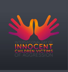 international day of innocent children victims of vector image