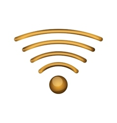 Isolated wifi wave design vector image