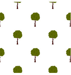 Long tree pattern flat vector