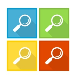 Magnifier Glass and Zoom Icons vector image