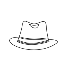 Men hat icon outline style vector