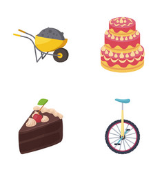 mine cooking and other web icon in cartoon style vector image