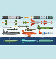 Missile military missilery rocket weapon vector