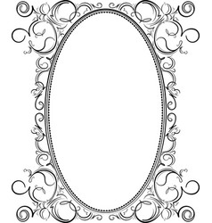 old black oval frame with a blank space for text vector image
