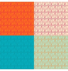 Ornamented seamless pattern set vector image