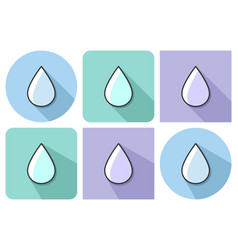 Outlined icon of water drop with parallel vector