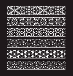 patterned elements for brushes creating borders vector image
