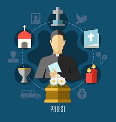 priest concept set vector image