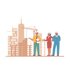 Professional construction engineers and architects vector