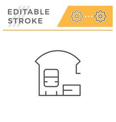 railroad station line icon vector image