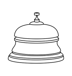 reception hotel ring isolated icon vector image