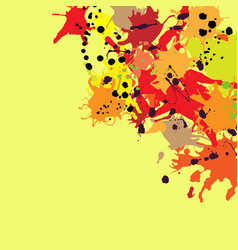 Red orange maroon ink splashes background copy vector