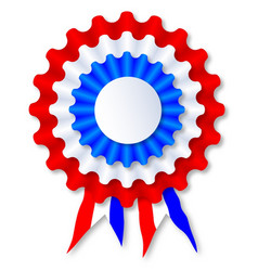 red white and blue rosette vector image