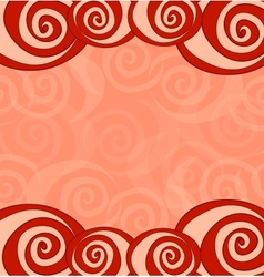 Saint Valentines Day card Greeting card with roses vector image