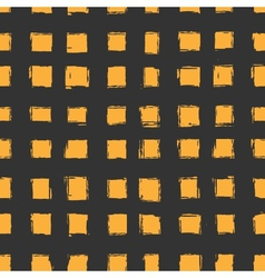 seamless pattern with orange hand-drawn squares vector image