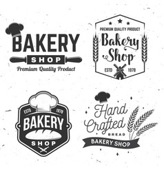 Set bakery shop badge concept for badge vector