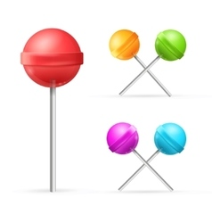 Set of Different Lollipops vector image