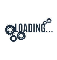 Simple loading icon vector image