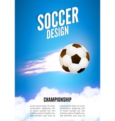 Soccer game design template Football poster vector image vector image