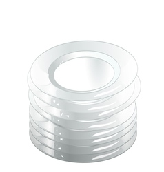 Stack plate vector