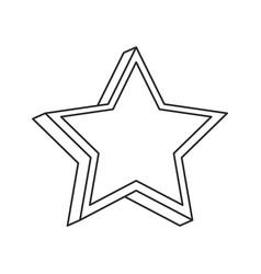 star prize decoration image outline vector image