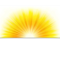 Summer Poster With Beams vector image vector image