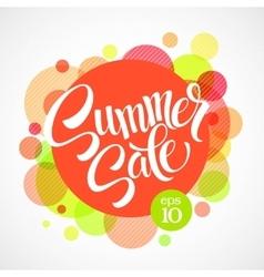summer sale inscription against bright vector image