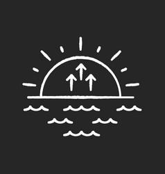 Sunrise chalk white icon on black background vector