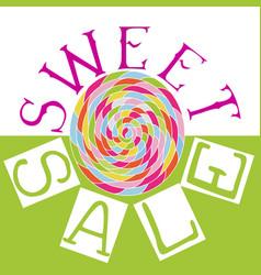 sweet sale6 vector image