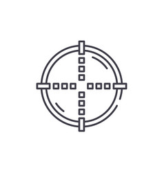 target line icon concept target linear vector image