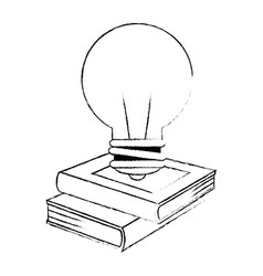 text book with bulb vector image
