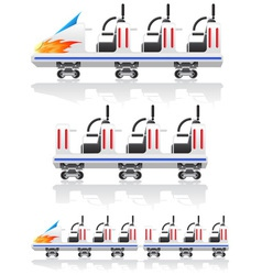 Trailers for roller coasters vector