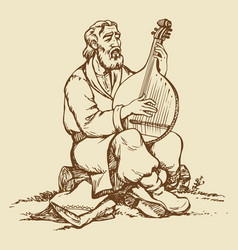 Ukrainian musician vector image