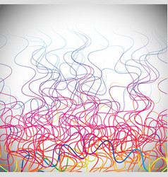 wavy lines abstract artistic in spectrum colors vector image
