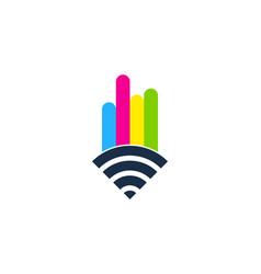Wifi paint logo icon design vector
