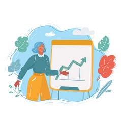 woman giving presentation to team colleagues vector image