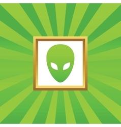 Alien picture icon vector image vector image